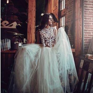 Ivory Wedding Skirt Tulle Bridal pockets train s